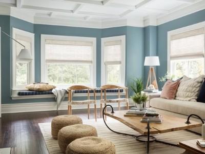 注意:这些蓝色客厅想法会让您想重新装修