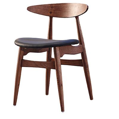 胡桃木面曲椅