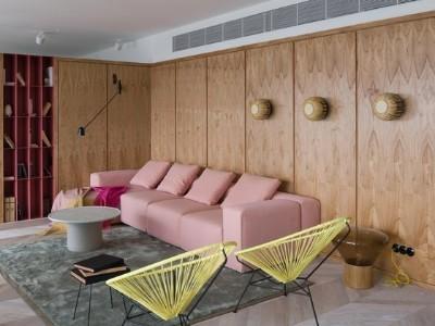 高层极简公寓将混凝土与所有我们喜欢的色调混合在一起